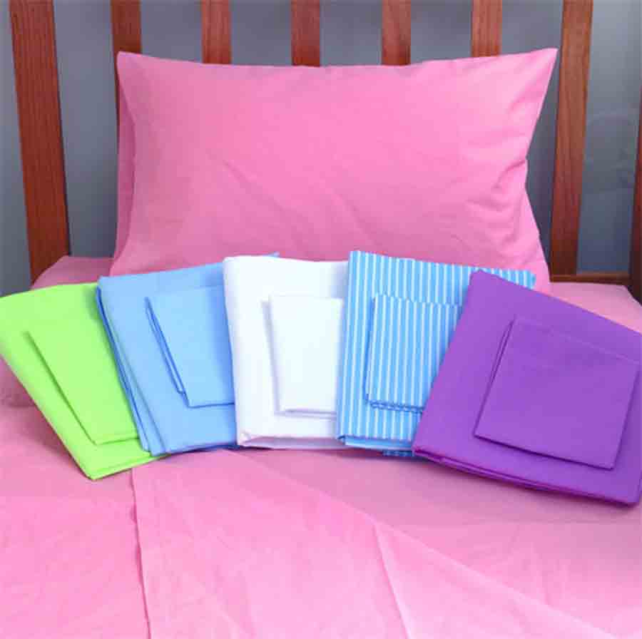 bed sheets , pillow covers , top sheets draw sheets , cut sheets