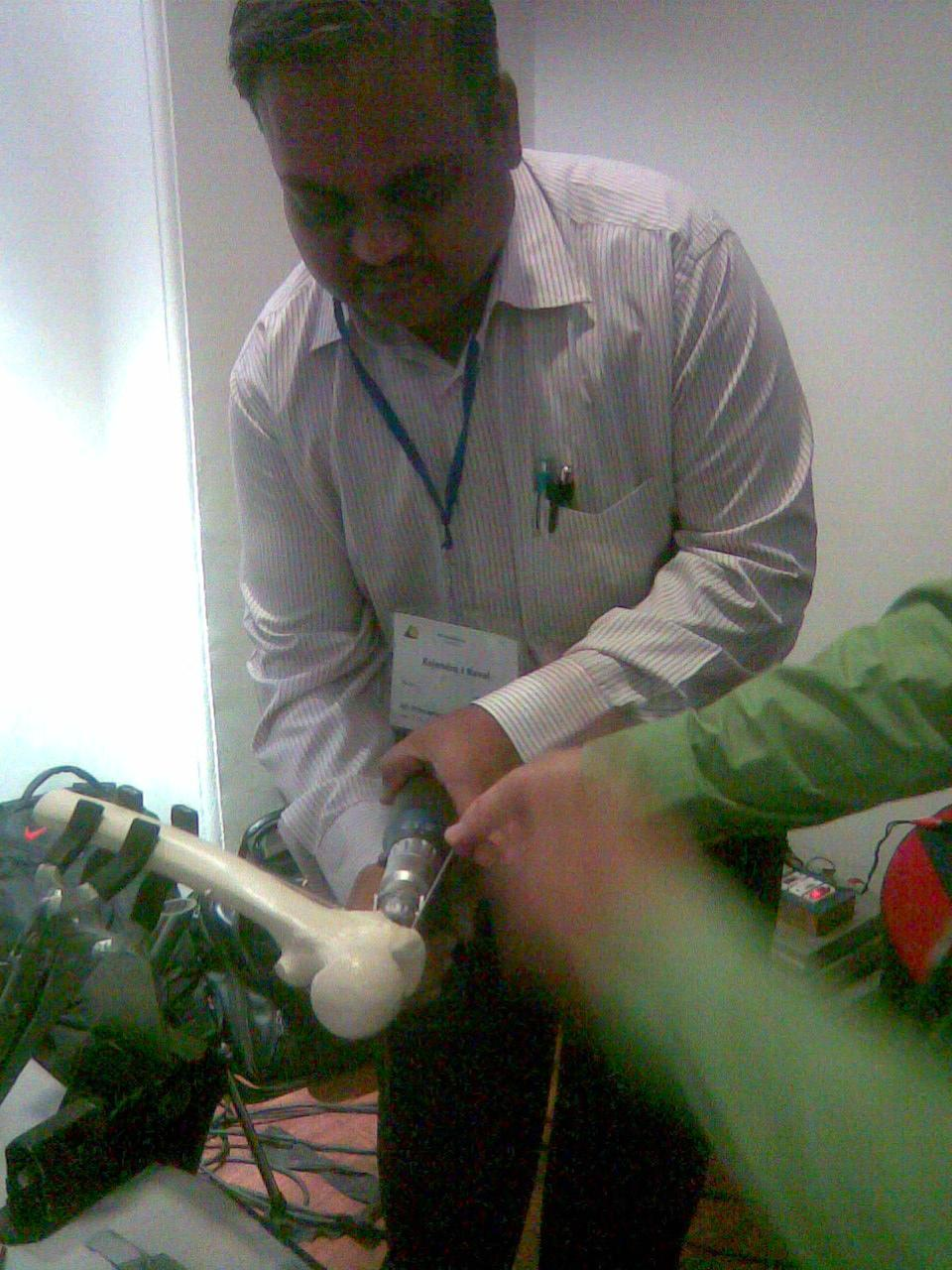 RAJENDRA AT WORKSHOP